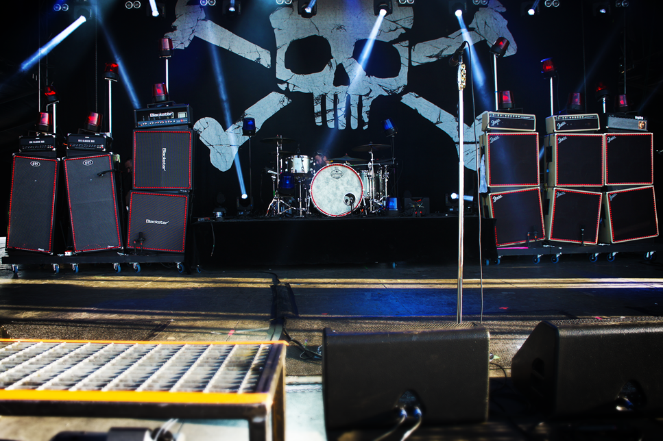 The whole backline for Backyard Babies on their comeback tour!