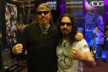 EBS Artists Steve Di Giorgio of Testament and Bjorn Englen of Dio Disciples/Tony MacAlpine etc.