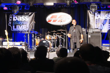 Randy Jackson presented the Lifetime Achievement Award to EBS Pedal artist George Porter Jr.