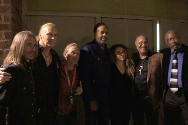 Backstage the Award concert with Rex Brown, Billy Sheehan, Steve Bailey, Stanley Clarke, Tal Wilkenfeld, George Porter Jr. and Jerry Jemmott.