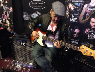 EBS Artist, producer and Musical Director Michael Choi testing the EBS Magni 500 combo!
